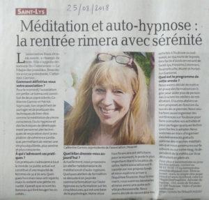 Article La dépêche méditation et auto hypnose 300x287 - La Magie des Possibles sur la dépêche